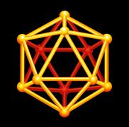Icosahedron Gold Three-dimensional Shape Stock Illustration