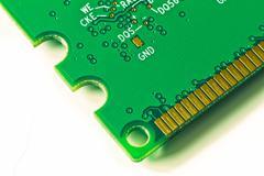 Memory module close up Stock Photos