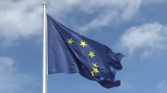 The European Union flag. - stock footage