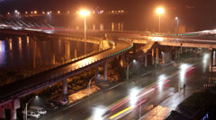 Zhongba bridge at night Stock Footage