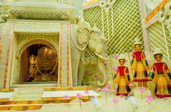 Goddess Durga, artwork and decoration, Durga Puja Festival, Kolk Stock Photos