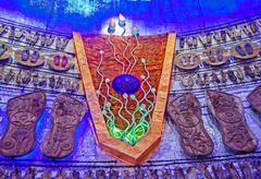 Decoration inside a pandal, temporary structure, Durga Worship F Stock Photos