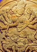 Goddess Durga, artwork, Durga Puja Festival, Kolkata, Calcutta Stock Photos