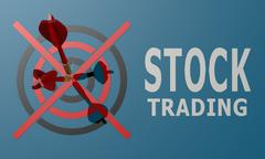 Stock Illustration of dart board blue stock trading
