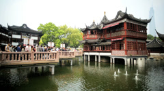City God Temple Shanghai Old Walled City Religion Orient China Asia - stock footage