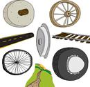 Stock Illustration of Evolution of The Wheel