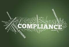 word cloud compliance - stock illustration