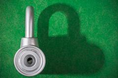 Stock Photo of chrome padlock