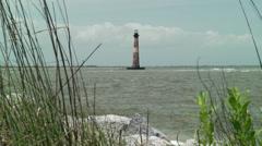 South carolina morris island lighthouse Stock Footage