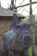 An extinct spinosaurus - spinosaurus aegyptiacus Stock Photos