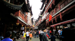 City God Temple Shanghai Chenghuang Miao Shanghai China - stock footage