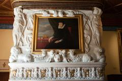 Castle of chenonceau interior. Stock Photos