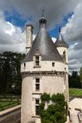 Castle of chenonceau. Stock Photos