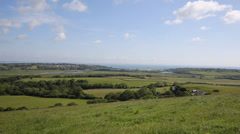 View towards Whitecliff Bay near Bembridge east Isle of Wight Stock Footage