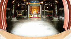 Alter City God Temple Chenghuang Miao Shanghai China Stock Footage