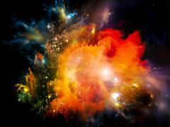 Lights of Space Stock Illustration
