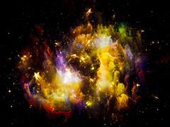 Inner Life of Space Stock Illustration