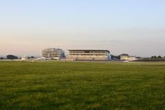 Grandstand at Epsom Racecourse. Surrey. England Stock Photos