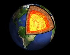 Structure of the Earth - stock illustration