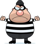 Angry cartoon burglar Piirros