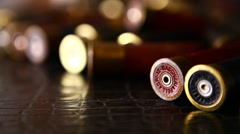 Closeup of Bullets Stock Footage