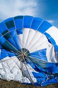 Blue Balloon in the blue sky - stock photo