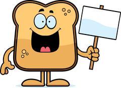 cartoon toast sign - stock illustration
