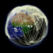 Network over Africa Stock Photos