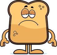 Stock Illustration of sad cartoon toast
