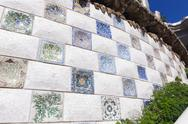 Stock Photo of park guell mosaic