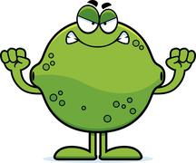 Angry cartoon lime Stock Illustration