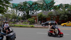 Across the street from Yilan station Stock Footage