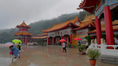 Pan at sanqing temple Stock Footage