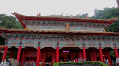 High - low tilt  sanqing temple Stock Footage
