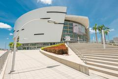 The american airlines arena, home of the miami heat Stock Photos
