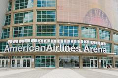 the american airlines arena, home of the miami heat - stock photo