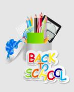 Back to School Concept Vector Illustration Stock Illustration