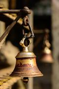 Bell in a buddhist temple in Kathmandu - stock photo