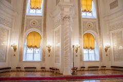 Georgievsky Hall of the Kremlin Palace, Moscow - stock photo
