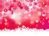 Stock Illustration of Pink background with snowflakes. EPS 8