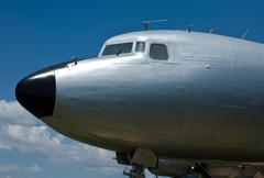 Douglas DC-7 cockpit - stock photo