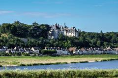 Chaumont sur Loire village and castle, Loir-et-Cher, France - stock photo