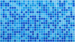 Blue mosaic tiles - stock photo