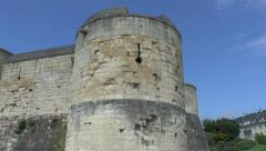 Tower of Château de Caen, Caen, Lower Normandy, France. Stock Footage