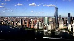 Coastal City Aerial, Urban, Neighborhoods, District - stock footage