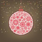 Сhristmas background with christmas ball. EPS 8 Stock Illustration