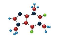 Molecule of Caffeine - stock illustration