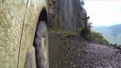 Driving On Dangerous Death Road In Bolivia POV - stock footage
