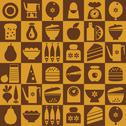 Stock Illustration of Brown kitchenware seamless
