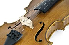 Italian Violin Chord details - stock photo